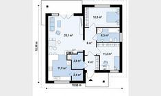 Small but beautiful house plans - Houz Buzz Beautiful House Plans, Beautiful Homes, Costa, Cosy House, Euro, Two Bedroom, Bedrooms, Floor Plans, 1