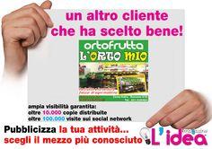 grafica da noi realizzata per Ortofrutta L'Orto Mio -Rossano- CS