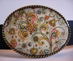 Italian Harvest  Oval Wearable Art by MnMTreasures on Etsy, $20.00