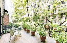 Garden terrace in Marilyn Monroe's old apartment