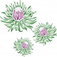 King Protea Stencil - x (L) - Reusable Large Fancy Floral Mural Wall Stencil Template - Use On Paper Projects Scrapbook Journal Walls Floors Fabric Furniture Glass Wood Etc.