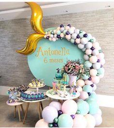 Mermaid Birthday Decorations, Wedding Shower Decorations, Balloon Decorations, Wedding Balloons, Birthday Balloons, Birthday Parties, 3rd Birthday Pictures, Baby Deco, Baby Shower Balloons