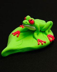 sculpty frog