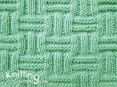 Double Basket pattern KNITTING