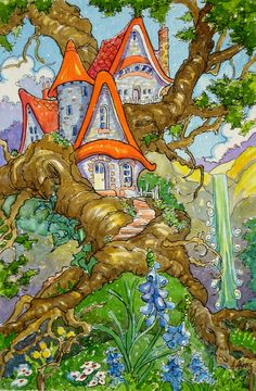Home in the Deep Deep Wood Storybook Cottage Series | by Alida Akers