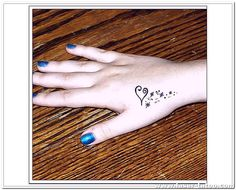 Heart Tattoo Designs For Hand Small Tattoos Girls