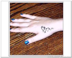 Heart Tattoo Designs For Hand Small Tattoos Girls