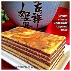 Cream cheese chocolate layered cake
