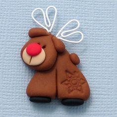 Fimo or salt dough Rudolph... very cute:-)