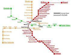 cool Cairo Subway Map
