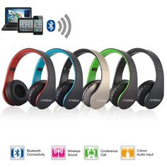 Wireless Bluetooth Foldable Headset Stereo Headphone Earphone for iPhone Samsung by InfiniteOutlooks on Etsy
