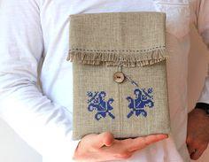 Hand's embroidered iPad sleeve iPad case iPad bag by GalaBorn, $70.00