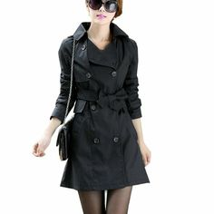 2014 New Womens Spring Korean Trench Coat Slim Fit Jacket Blazer Long Outwear