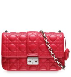 "MISS DIOR - Crimson red leather ""Miss Dior"" bag"