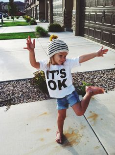 "I fell in LOVE with this  ""IT'S OK"" kids tee from It's Ok Apparel  --   Isn't it awesome?? Ellie is rockin' it.      Katie from It's Ok A..."