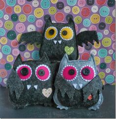 cafe creativo - sizzix big shot - owl bat halloween felt