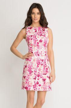 Kleid mit blumen print orsay