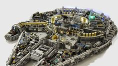 There's an incredible amount of detail in this 10,000-brick Lego Millennium Falcon