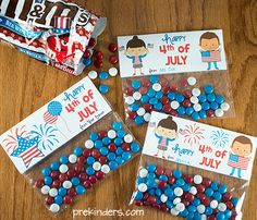4th of July Treat Bag Topper (Independence Day)