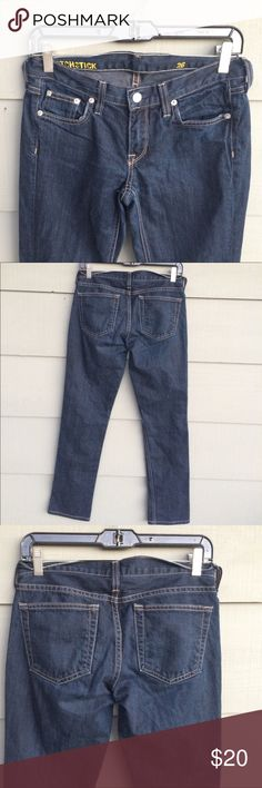J.crew women's matchstick dark indigo denim jeans Nice dark indigo denim matchstick slim style jeans.  28 inches from the inseam in length.  New condition. Perfect pair of jeans j.crew Jeans Skinny