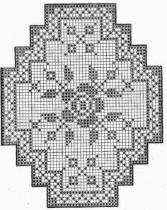 Hobilerim ve ben: 2019 Filet Crochet Charts, Crochet Motif, Crochet Designs, Knit Crochet, Doily Patterns, Cross Stitch Patterns, Thread Crochet, Crochet Stitches, Embroidery