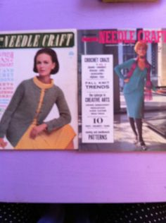 LOT OF 2 MODERN NEEDLECRAFT 1966 & 1970 MADMEN ERA patterns  **On SALE ON EBAY NOW**