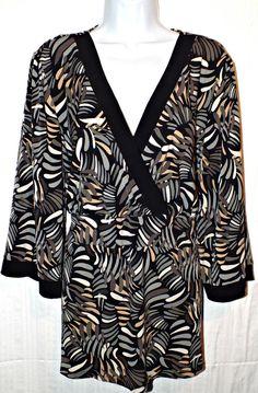 Lane Bryant Casual Long Sleeve Womens Top Tunic Blouse Size 22/24W Plus #LaneBryant #Tunic #Casual