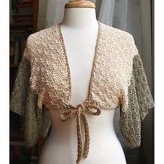 Eco Friendly Clothing - Organic Cotton Knit Shrug - Spring Summer Fashion. #hvnyteam, via Etsy.