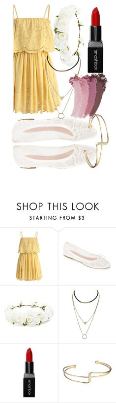 """Untitled #85"" by katemoly on Polyvore featuring Chicwish, Summit by White Mountain, Forever 21, Smashbox, Gucci, outfit and flowercrown"