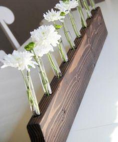 Reagenzglas Blumenvase-Holzgestell