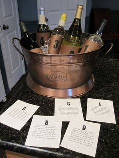 Wine and cheese party ideas  Wish I had this last year, a must have for this years W party.