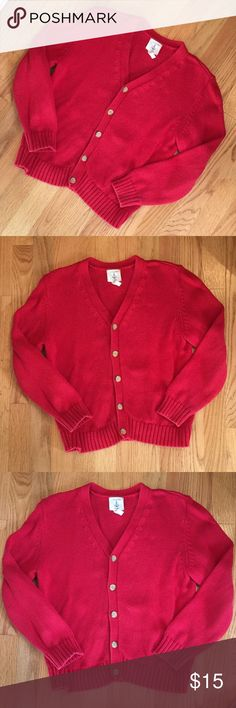 ⚓️LANDS END⚓️ RED CARDIGAN BOYS SIZE SMALL 7-8YR ⚓️LANDS END⚓️ RED BUTTON-UP CARDIGAN. Boys Size Small/ 7-8Years in EUC. No stains, rips or pulls. No pilling or missing/loose buttons. Looks almost new. Great for school uniforms! ➡️Check out my closet for more great kids' clothes!! 🚫No trades. Just looking to sell please. Reasonable offers welcome. 🌻B12 Lands' End Shirts & Tops Sweaters