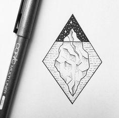 Iceberg ice tattoo tatuaje simple cute ideas idea O que ninguém vê é uma imensidão