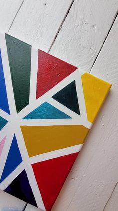 Tape Painting, Canvas Painting Tutorials, Painters Tape Art, Painting Videos, Diy Painting, Kids Canvas Art, Simple Canvas Paintings, Wall Paintings, Kid Art