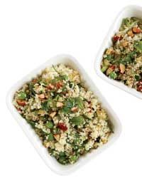 Couscous Salad with Zucchini and Roasted Almonds Recipe AB: Was a little dry but if I cooked the couscous correctly might not have been so bad.  Quite tasty. @foodandwine