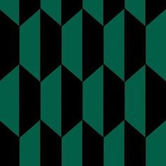 Tile Wallpaper Optical geometric design influenced by Northern African tiled courtyards creating a Moroccan-style sanctuary. Black and emerald green combination. Tile Wallpaper, Luxury Wallpaper, Geometric Wallpaper, Pattern Wallpaper, Wallpaper Decor, Custom Wallpaper, Tile Patterns, Textures Patterns, Geometric Patterns