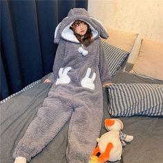 Pijamas Onesie, Onesie Pajamas, Cute Pajamas, Cute Overalls, Cute Onesies, Cute Sleepwear, Sleepwear Women, Korean Girl Fashion, Cute Comfy Outfits