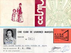 O Símbolo do Cine-Clube de Lourenço Marques e o cartão do Luis Bulha.