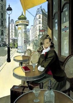 Jean-Pierre Gibrat is a French comic artist and scriptwriter. Born April 1954 in Paris, Jean-Pierre Gibrat knows a suburban childhood uneventful. Art And Illustration, Illustrations Posters, Ligne Claire, Bd Comics, Alphonse Mucha, Art Design, Comic Artist, Painting & Drawing, Illustrators