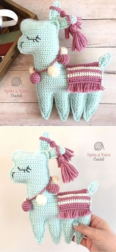 Sweet Llama and Alpaca Crochet Patterns. This adorable cute llama was made with worsted weight yarn. Llamas really took over the internet recently, and I can see why! They are absolutely adorable and the quirkiest animals around. This sweet fuzzy fellow will be your kiddo best friend. #freecrochetpattern #amigurumi #unicorn