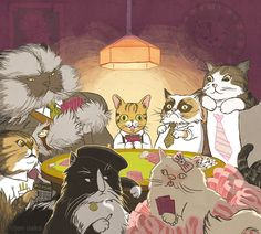 {The Cat Pack - Internet Cats} lil Bub, Grumpy Cat, Maru, Luna the Fashion Kitty, Henri le Chat Noir, Colonel Meow ... epic