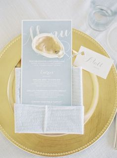 Nautical + gold accents: http://www.stylemepretty.com/2015/10/12/nautical-summer-wedding-in-maryland/ | Photography: Michael and Carina - http://www.michaelandcarina.com/: