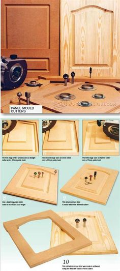 Routing Panels in Solid Wood - Cabinet Door Construction Techniques | WoodArchivist.com