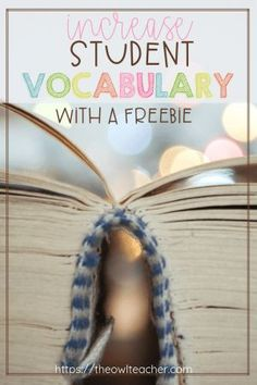 It's absolutely critical to increase your students' vocabulary in order for them to be successful. Check out these ideas to help your students! Vocabulary In Context, Vocabulary Word Walls, Vocabulary Strategies, Vocabulary Activities, Reading Strategies, Student Teaching, Teaching Resources, Teaching Ideas, Student Engagement