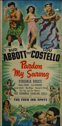 Pardon My Sarong (1942) Poster #planetofpop