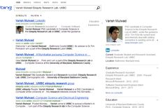 With LinkedIn integration,in Bing, you are also an Entity