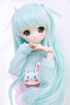 Amazon.com: Only Sell Wigs 8-9 inch 1/3 BJD Wig Doll Hair SD DZ DD DOD Wig (Light Blue)