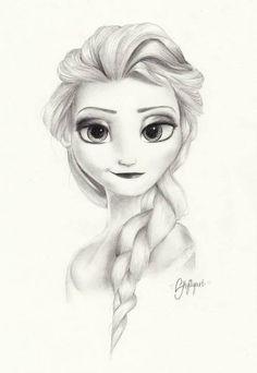 beautiful Elsa drawing