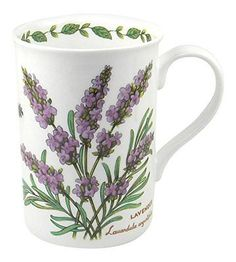 Crown-Trent-English-Floral-Lavender-Flower-Fine-Bone-China-Mug