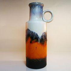 West German Pottery Vase • Fat Lava • Scheurich • 401-28